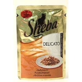 Sheba kapsa Delicato krůtí maso v želé 85g