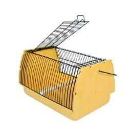 Přepravka pro ptáky 30x18x20cm plast žlutá 1ks TR