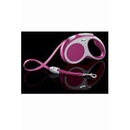 Vodítko FLEXI VARIO Pásek S 5m/15kg Růžová 1ks