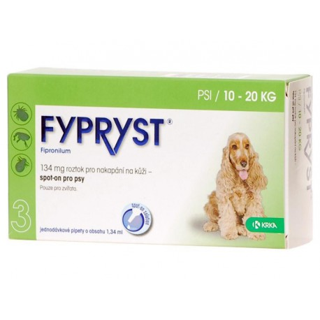 Fypryst Spot-on Dog M sol 3x1,34ml (10-20kg)