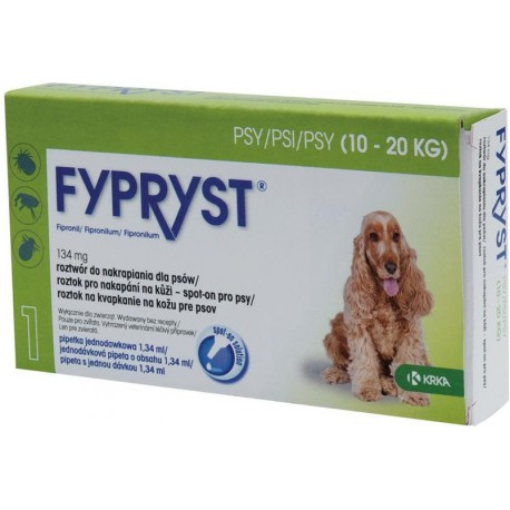 Fypryst Spot-on Dog M sol 1x1,34ml (10-20kg)