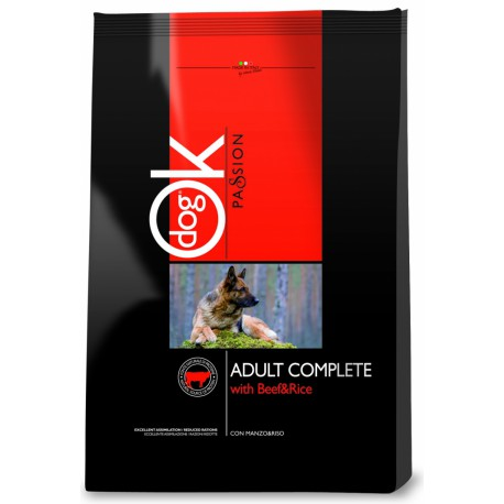 OK Dog Passion Adult Complet Beef Rice 12,5kg