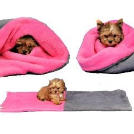 Spací pytel 3v1 MINI pes,kočka č.1 šedá/tm.růžová