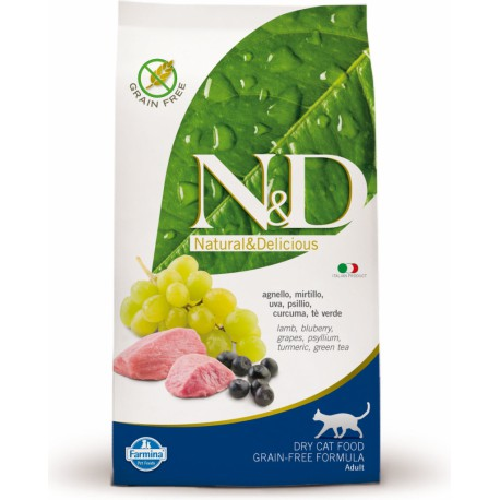 N&D GF CAT Adult Lamb & Blueberry 10kg