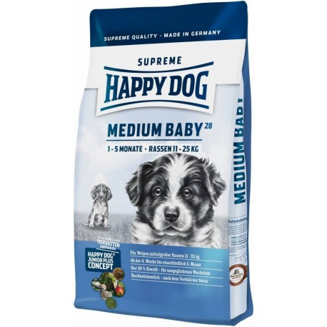 Happy Dog Supreme Jun. Medium Baby 28 (4T- 5M) 4kg + Sleva 5% od 2ks