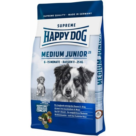 Happy Dog Supreme Jun. Medium Junior 25 (6-15M) 10kg