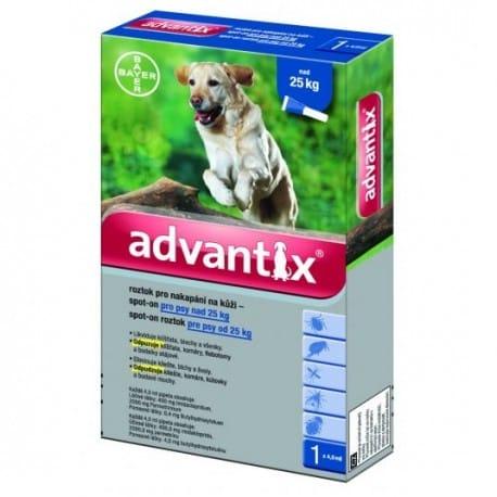 Advantix Spot On 1x4ml pro psy nad 25kg (1 pipeta)