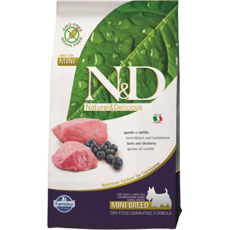 N&D Grain Free DOG Adult Mini Lamb & Blueberry 7kg