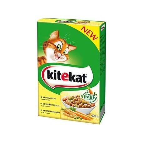 Kitekat Dry kuřecí se zeleninou 300g