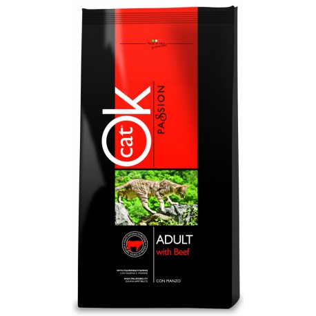 OK Cat Passion Adult Beef 1,5kg
