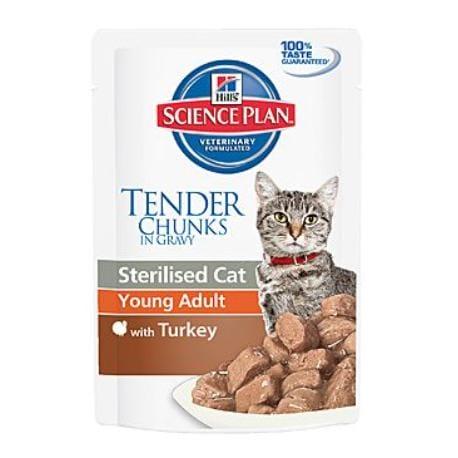 Hill's Feline kapsa Adult Young Sterilised Turkey 85g + VÝPRODEJ