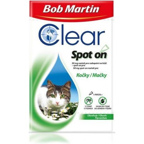 Bob Martin Clear spot on CAT 50mg a.u.v. sol 1x 0,50ml