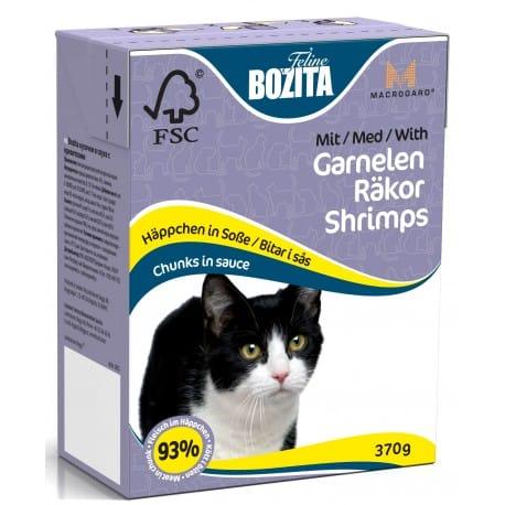 Bozita Cat kousky v omáčce s krevetami Tetrapak 370g