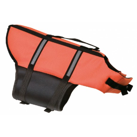 Vesta plavací Dog M 35cm oranžová