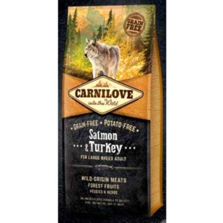 Carnilove Dog Salmon & Turkey for LB Adult NEW 1,5kg + Sleva 5% od 2ks