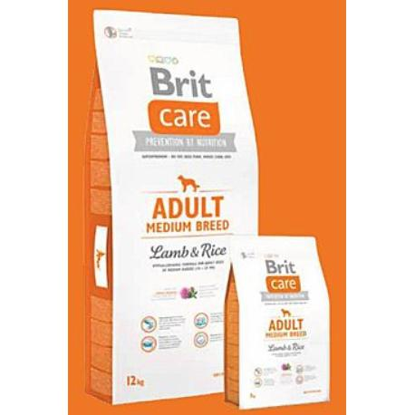 Brit Care Dog Adult Medium Breed Lamb & Rice 1kg + Sleva 5% od 2ks