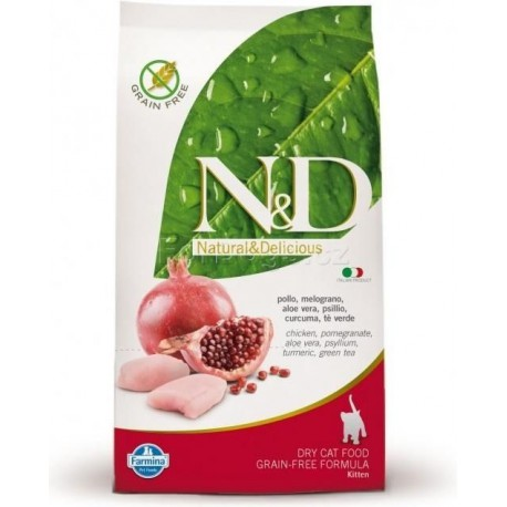 N&D GF CAT KITTEN Chicken & Pomegranate 1,5kg