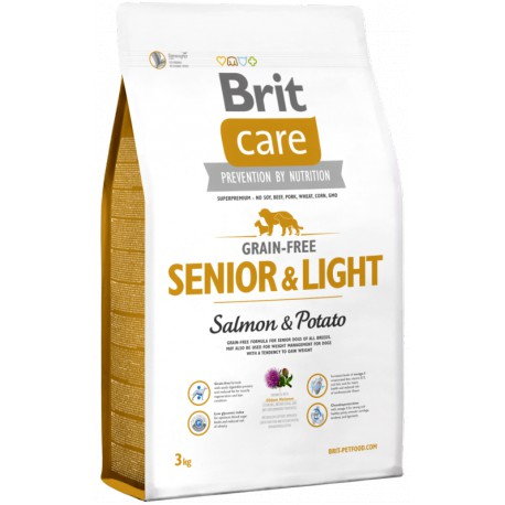 Brit Care Dog Grain-free Senior Salmon & Potato 2 x 3kg
