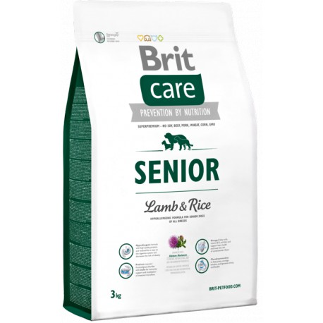 Brit Care Dog Senior Lamb & Rice 2 x 3kg