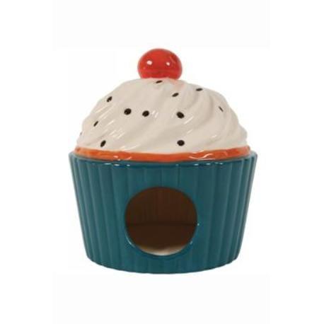 Domek pro hlodavce Cup Cake modrá 13x13x14cm Zolux