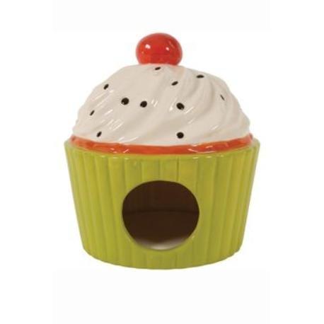 Domek pro hlodavce Cup Cake zelená 13x13x14cm Zolux + VÝPRODEJ