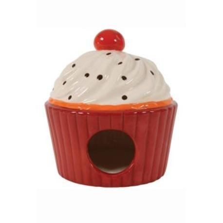 Domek pro hlodavce Cup Cake červená 13x13x14cm Zolux