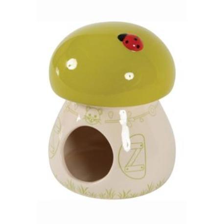 Domek pro hlodavce Houba zelená 11x11x14cm Zolux