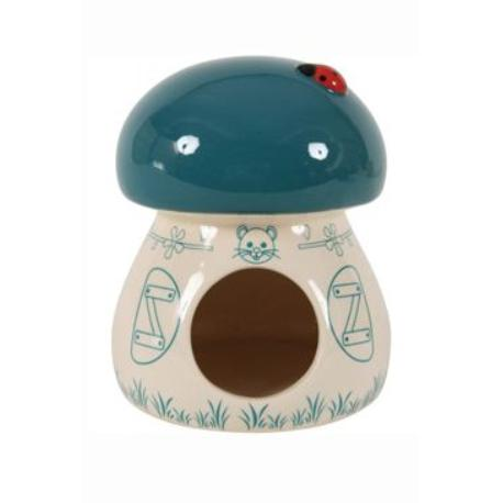 Domek pro hlodavce Houba modrá 11x11x14cm Zolux