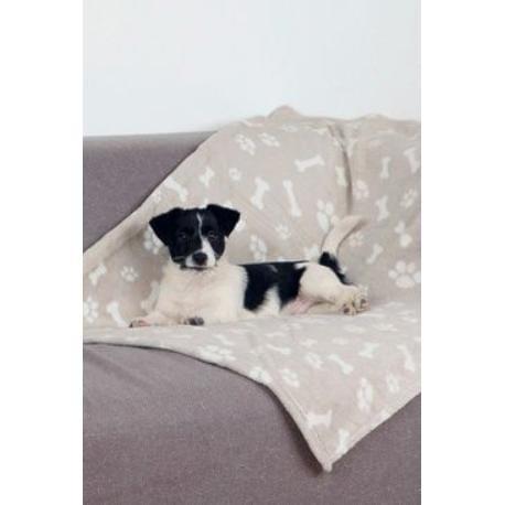 Deka pro psy KENNY béžová a kostičky 100x150cm TR