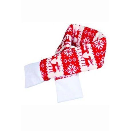 Vánoční šála L 90cm červená TR 1ks
