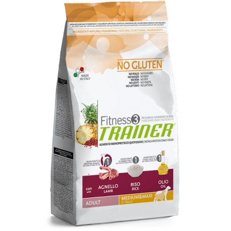 Trainer Fitness Adult M/M No Gluten Lamb Rice 3kg