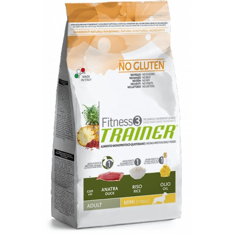 Trainer Fitness Adult Mini No Gluten Duck Rice 800g
