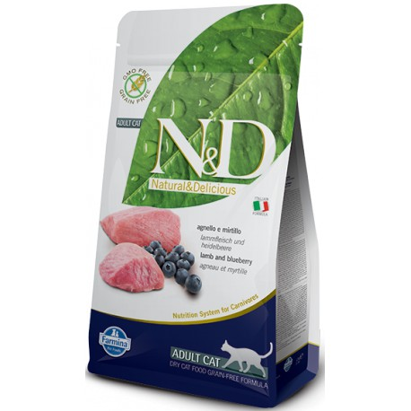 N&D Grain Free CAT Adult Lamb & Blueberry 5kg