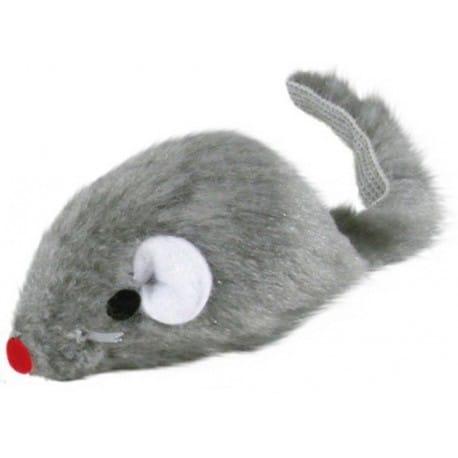 Hračka kočka Myš 5cm kožešinová Šedá 1ks TR