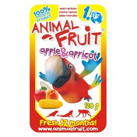 ANIMAL FRUIT kaps.Jablko + Meruňka papoušci 120g Syrio