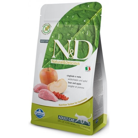 N&D GF CAT Adult Boar & Apple 5kg