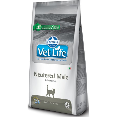 Vet Life Natural CAT Neutered Male 5kg + Sleva 5% od 2ks