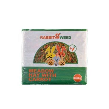 Seno luční s mrkví RabbitWeed 0,6kg 1,9 l