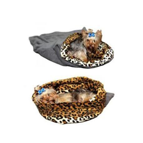 Spací pytel 3v1 MINI pes,kočka č.5 šedá/leopard