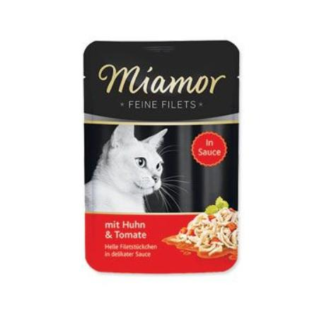 Miamor Cat Filet kapsa kuře+rajče ve šťávě 100g