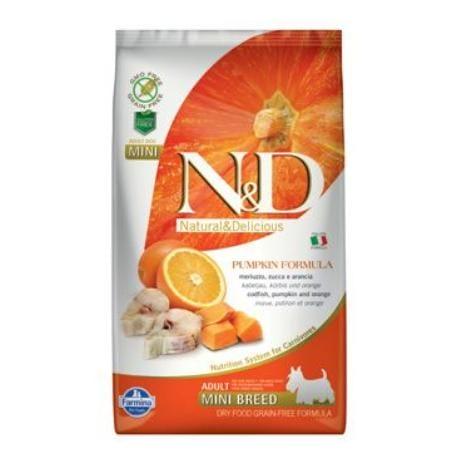 N&D GF Pumpkin DOG Adult Mini Codfish & Orange 2,5kg