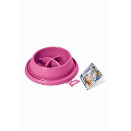 Miska plast proti hltání Růžová malá ARGI