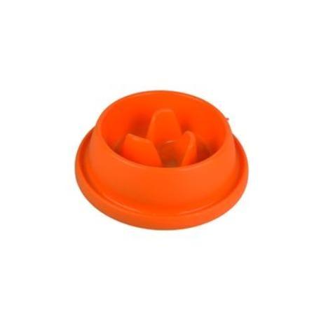 Miska plast proti hltání Oranžová velká ARGI
