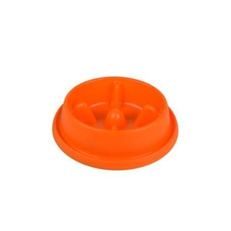 Miska plast proti hltání Oranž střední ARGI protiskluz