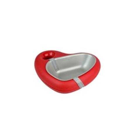 Miska plast Srdce 400ml červená ARGI