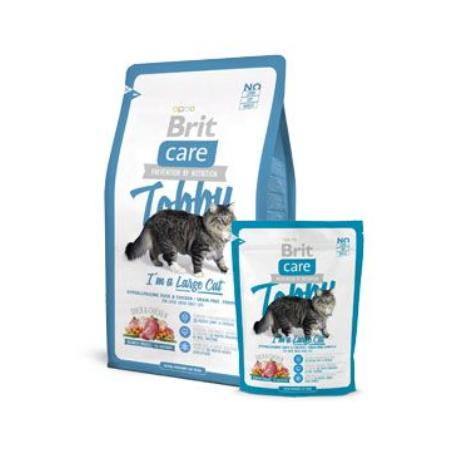 Brit Care Cat Tobby I´m a Large Cat 400g + Sleva 5% od 2ks