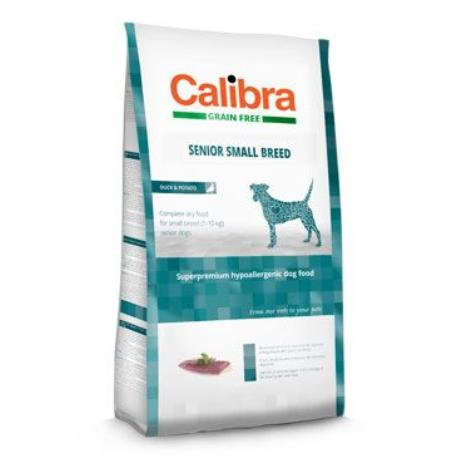 Calibra Dog GF Senior Small Breed Duck 7kg NEW
