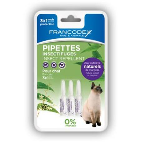 Francodex Pipeta repelentní kočka 3x0,6ml