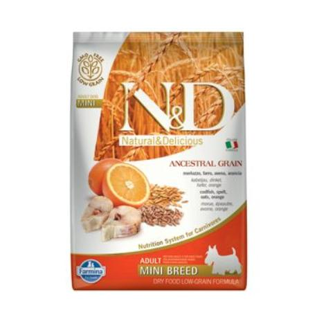 N&D LG DOG Adult Mini Codfish & Orange 7kg + Sleva 5% od 2ks