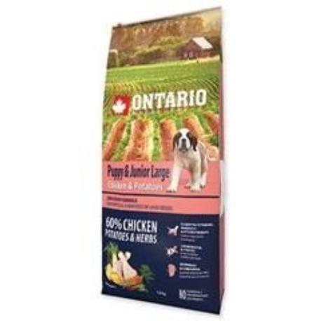 ONTARIO Dog Puppy Junior Large Chicken & Potatoes 12kg